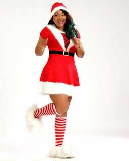 Actresses Mercy Aigbe and Laide Bakare Dressup As Sexy Santa Clauses [Photos]